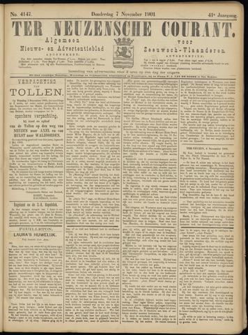 Ter Neuzensche Courant. Algemeen Nieuws- en Advertentieblad voor Zeeuwsch-Vlaanderen / Neuzensche Courant ... (idem) / (Algemeen) nieuws en advertentieblad voor Zeeuwsch-Vlaanderen 1901-11-07