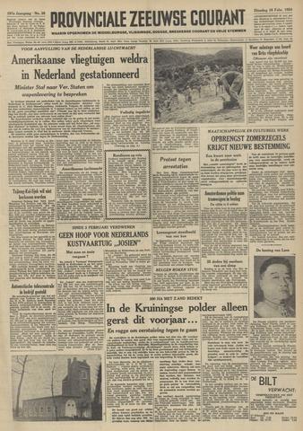 Provinciale Zeeuwse Courant 1954-02-16