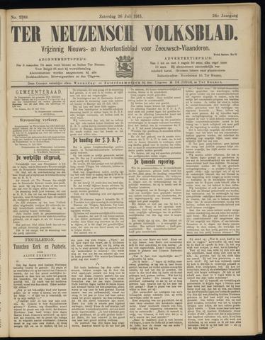 Ter Neuzensch Volksblad. Vrijzinnig nieuws- en advertentieblad voor Zeeuwsch- Vlaanderen / Zeeuwsch Nieuwsblad. Nieuws- en advertentieblad voor Zeeland 1913-07-26