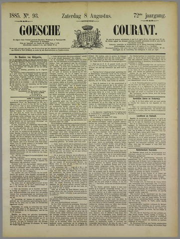 Goessche Courant 1885-08-08