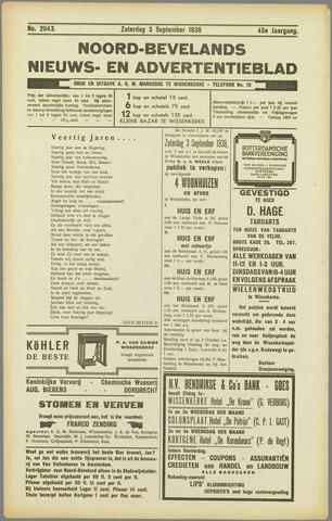 Noord-Bevelands Nieuws- en advertentieblad 1938-09-03