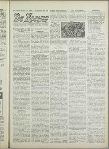 De Zeeuw. Christelijk-historisch nieuwsblad voor Zeeland 1943-03-22