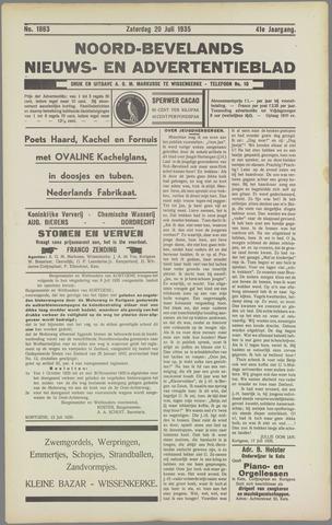 Noord-Bevelands Nieuws- en advertentieblad 1935-07-20