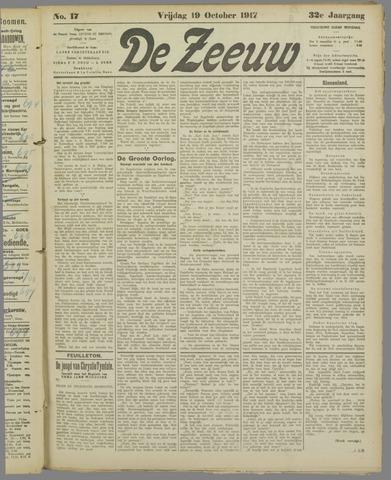 De Zeeuw. Christelijk-historisch nieuwsblad voor Zeeland 1917-10-19