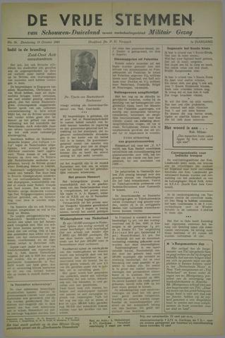 Vrije Stemmen van Schouwen-Duiveland, tevens mededeelingenblad Militair Gezag 1945-10-18