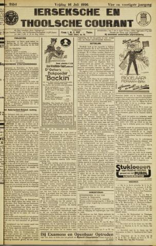 Ierseksche en Thoolsche Courant 1926-07-16