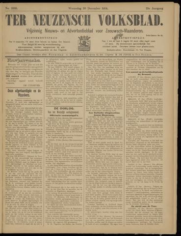 Ter Neuzensch Volksblad. Vrijzinnig nieuws- en advertentieblad voor Zeeuwsch- Vlaanderen / Zeeuwsch Nieuwsblad. Nieuws- en advertentieblad voor Zeeland 1914-12-30