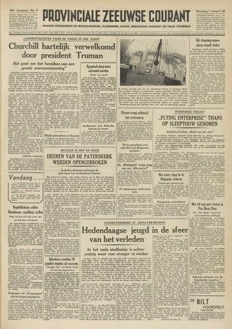Provinciale Zeeuwse Courant 1952-01-07