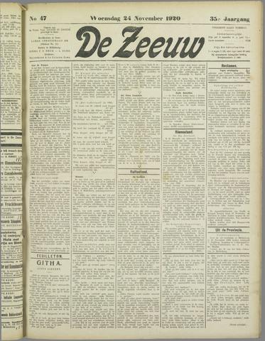 De Zeeuw. Christelijk-historisch nieuwsblad voor Zeeland 1920-11-24