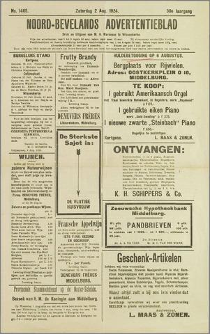 Noord-Bevelands Nieuws- en advertentieblad 1924