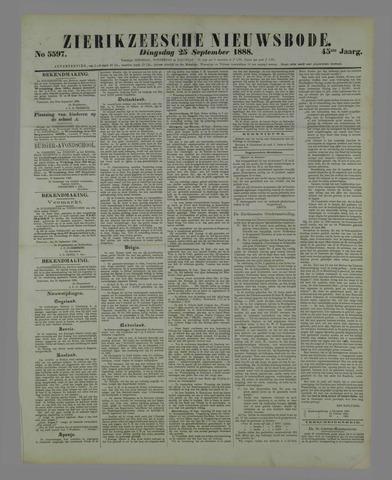 Zierikzeesche Nieuwsbode 1888-09-25