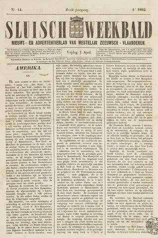 Sluisch Weekblad. Nieuws- en advertentieblad voor Westelijk Zeeuwsch-Vlaanderen 1865-04-07