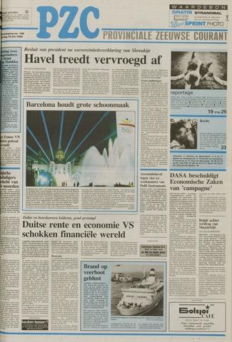 Provinciale Zeeuwse Courant 1992-07-18