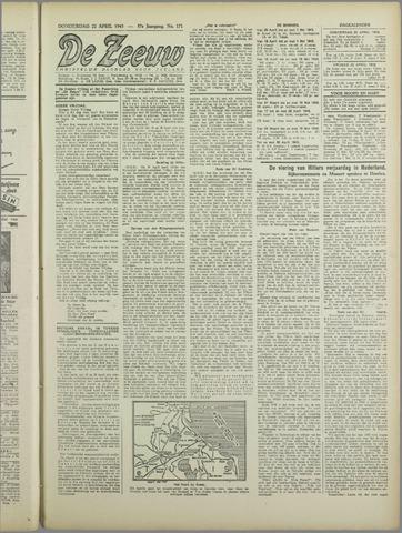 De Zeeuw. Christelijk-historisch nieuwsblad voor Zeeland 1943-04-22