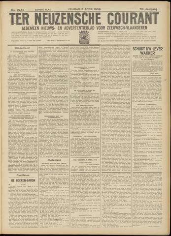 Ter Neuzensche Courant. Algemeen Nieuws- en Advertentieblad voor Zeeuwsch-Vlaanderen / Neuzensche Courant ... (idem) / (Algemeen) nieuws en advertentieblad voor Zeeuwsch-Vlaanderen 1938-04-08