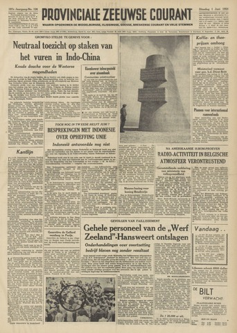 Provinciale Zeeuwse Courant 1954-06-01