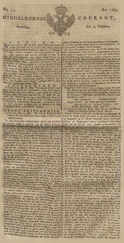 Middelburgsche Courant 1775-08-05