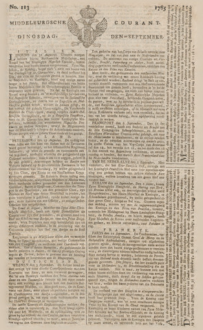 Middelburgsche Courant 1785-09-20