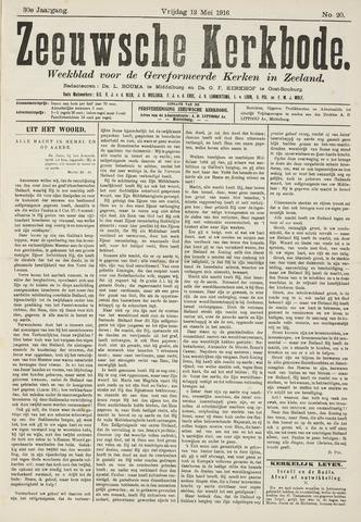 Zeeuwsche kerkbode, weekblad gewijd aan de belangen der gereformeerde kerken/ Zeeuwsch kerkblad 1916-05-12