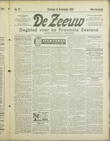 De Zeeuw. Christelijk-historisch nieuwsblad voor Zeeland 1929-11-12