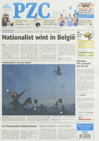 Provinciale Zeeuwse Courant 2010-06-14