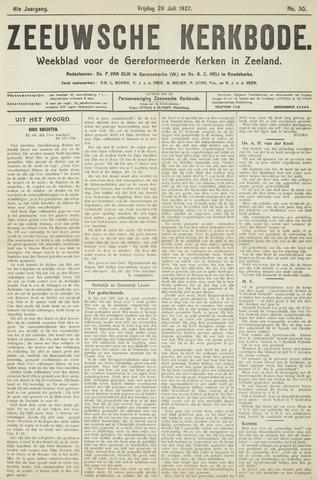 Zeeuwsche kerkbode, weekblad gewijd aan de belangen der gereformeerde kerken/ Zeeuwsch kerkblad 1927-07-29
