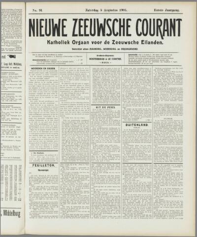 Nieuwe Zeeuwsche Courant 1905-08-05
