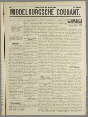 Middelburgsche Courant 1925-06-25