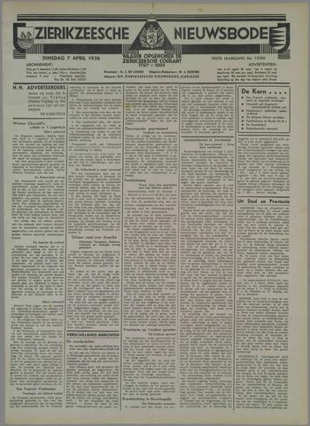 Zierikzeesche Nieuwsbode 1936-04-07