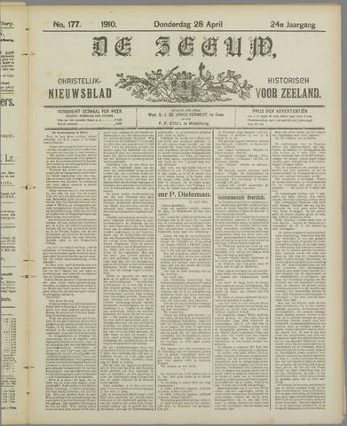 De Zeeuw. Christelijk-historisch nieuwsblad voor Zeeland 1910-04-28