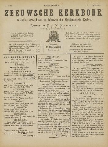 Zeeuwsche kerkbode, weekblad gewijd aan de belangen der gereformeerde kerken/ Zeeuwsch kerkblad 1888-09-29