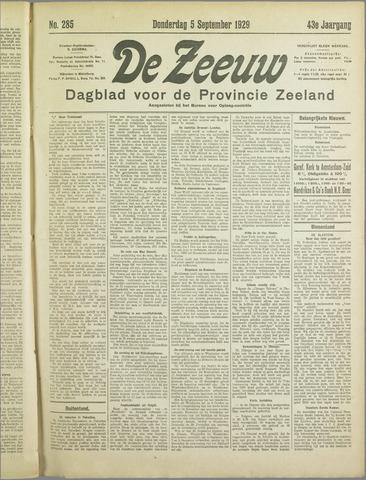 De Zeeuw. Christelijk-historisch nieuwsblad voor Zeeland 1929-09-05