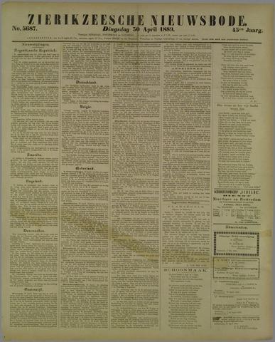 Zierikzeesche Nieuwsbode 1889-04-30