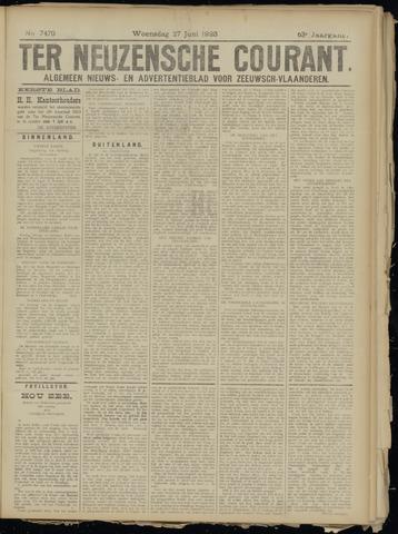 Ter Neuzensche Courant. Algemeen Nieuws- en Advertentieblad voor Zeeuwsch-Vlaanderen / Neuzensche Courant ... (idem) / (Algemeen) nieuws en advertentieblad voor Zeeuwsch-Vlaanderen 1923-06-27