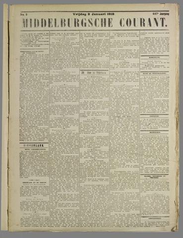 Middelburgsche Courant 1919-01-03