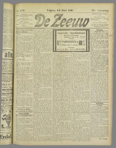 De Zeeuw. Christelijk-historisch nieuwsblad voor Zeeland 1921-06-24