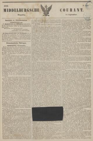 Middelburgsche Courant 1852-09-14