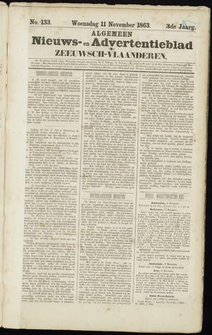 Ter Neuzensche Courant. Algemeen Nieuws- en Advertentieblad voor Zeeuwsch-Vlaanderen / Neuzensche Courant ... (idem) / (Algemeen) nieuws en advertentieblad voor Zeeuwsch-Vlaanderen 1863-11-11