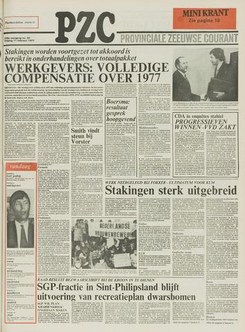 Provinciale Zeeuwse Courant 1977-02-11