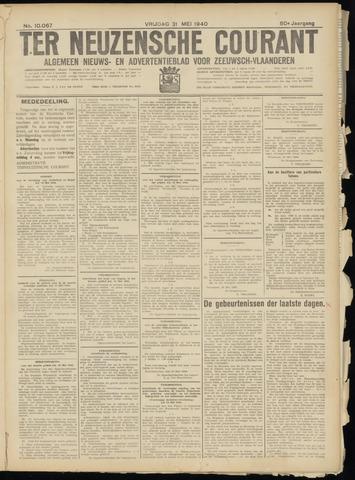 Ter Neuzensche Courant. Algemeen Nieuws- en Advertentieblad voor Zeeuwsch-Vlaanderen / Neuzensche Courant ... (idem) / (Algemeen) nieuws en advertentieblad voor Zeeuwsch-Vlaanderen 1940-05-31