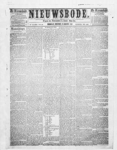 Sheboygan Nieuwsbode 1858-08-31