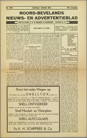 Noord-Bevelands Nieuws- en advertentieblad 1933-10-07