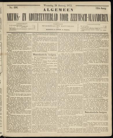 Ter Neuzensche Courant. Algemeen Nieuws- en Advertentieblad voor Zeeuwsch-Vlaanderen / Neuzensche Courant ... (idem) / (Algemeen) nieuws en advertentieblad voor Zeeuwsch-Vlaanderen 1872-01-24