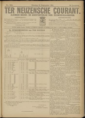 Ter Neuzensche Courant. Algemeen Nieuws- en Advertentieblad voor Zeeuwsch-Vlaanderen / Neuzensche Courant ... (idem) / (Algemeen) nieuws en advertentieblad voor Zeeuwsch-Vlaanderen 1914-09-22