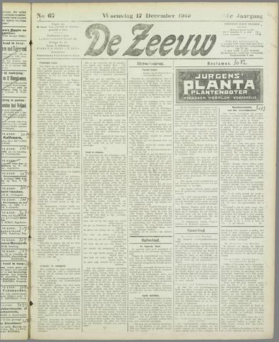 De Zeeuw. Christelijk-historisch nieuwsblad voor Zeeland 1919-12-17