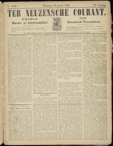 Ter Neuzensche Courant. Algemeen Nieuws- en Advertentieblad voor Zeeuwsch-Vlaanderen / Neuzensche Courant ... (idem) / (Algemeen) nieuws en advertentieblad voor Zeeuwsch-Vlaanderen 1883-01-10