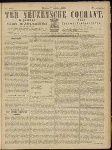 Ter Neuzensche Courant. Algemeen Nieuws- en Advertentieblad voor Zeeuwsch-Vlaanderen / Neuzensche Courant ... (idem) / (Algemeen) nieuws en advertentieblad voor Zeeuwsch-Vlaanderen 1906-10-02