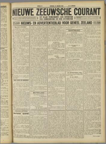 Nieuwe Zeeuwsche Courant 1927-01-25