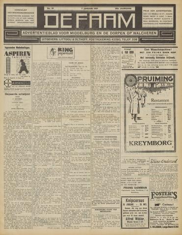 de Faam en de Faam/de Vlissinger 1931