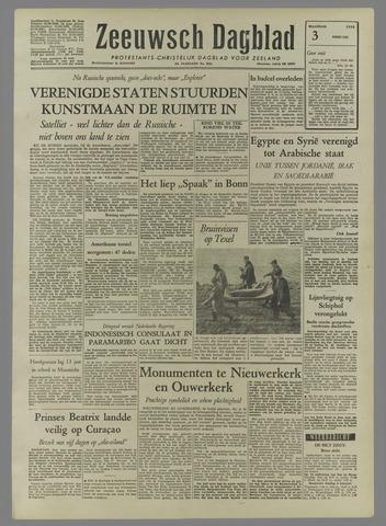 Zeeuwsch Dagblad 1958-02-03